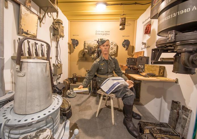 'Het leven van een Duitse militair in een bunker' is nagebouwd in het Bevrijdingsmuseum Zeeland.