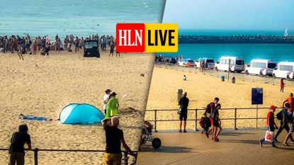 Tumult op strand van Oostende, politie massaal ter plaatse