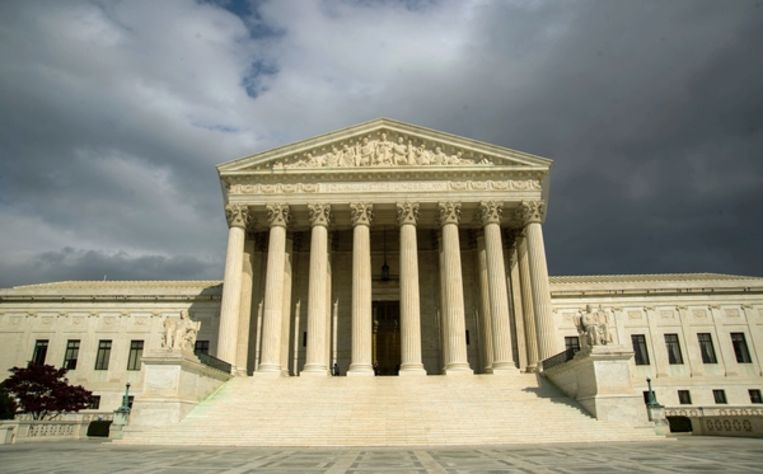 Het Federaal hooggerechtshof van de Verenigde Staten in Washington, D.C.. Beeld AFP
