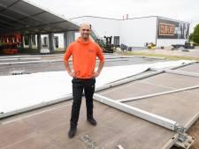 Sportschool in Hengelo kan al wél open dankzij gigantische overkapping