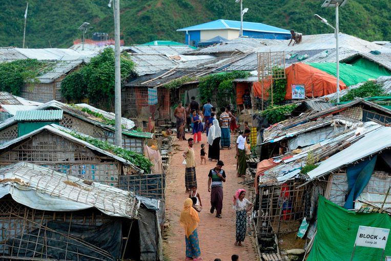 Rohingya in Teknaf in Bangladesh.