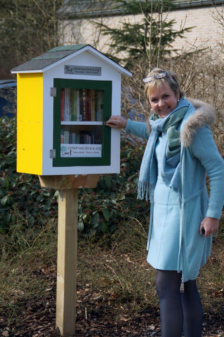 Annemie Struyf heeft al toegezegd om 'meter' te zijn van de boekentillen.
