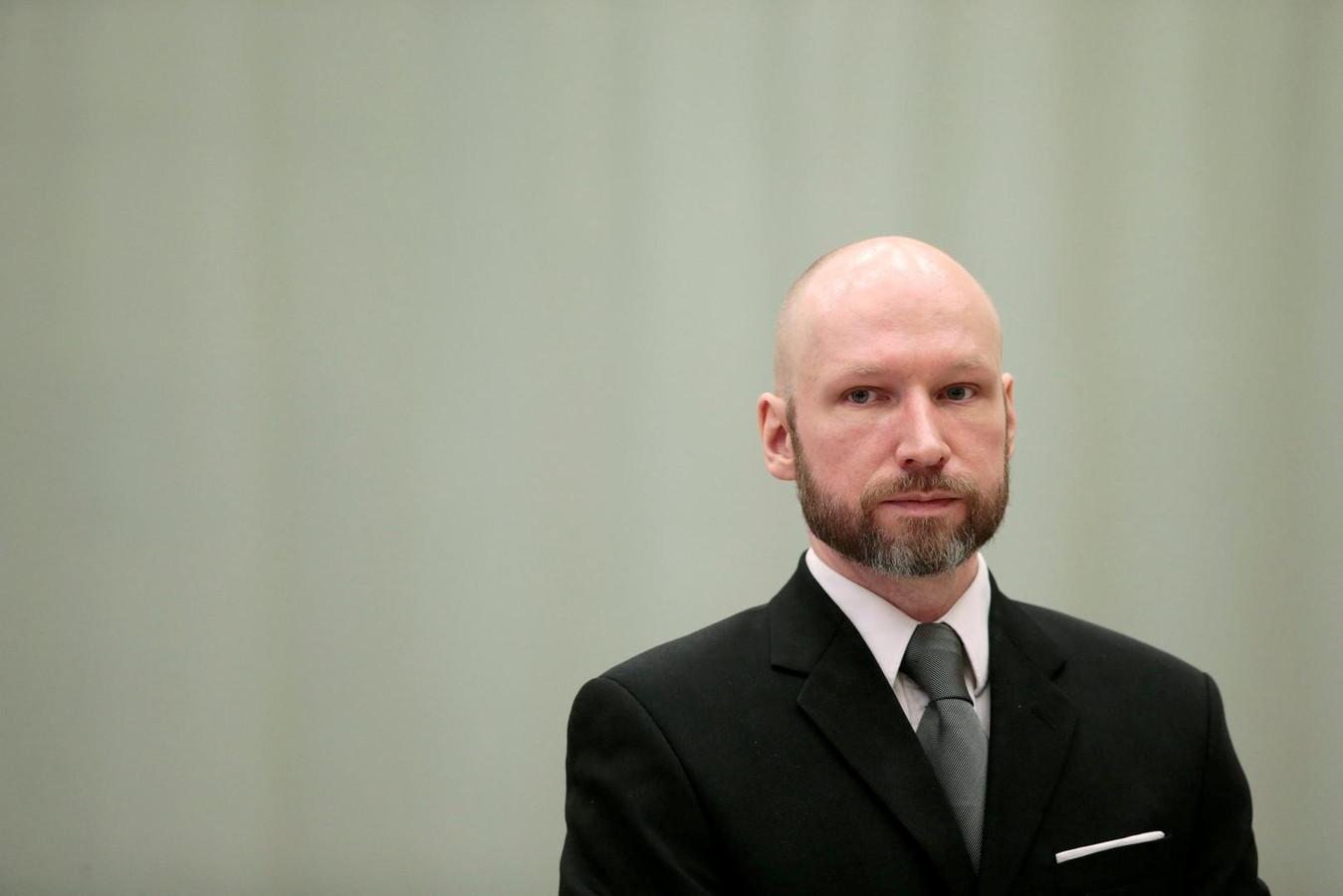 Anders Behring Breivik in de rechtbank in 2017.