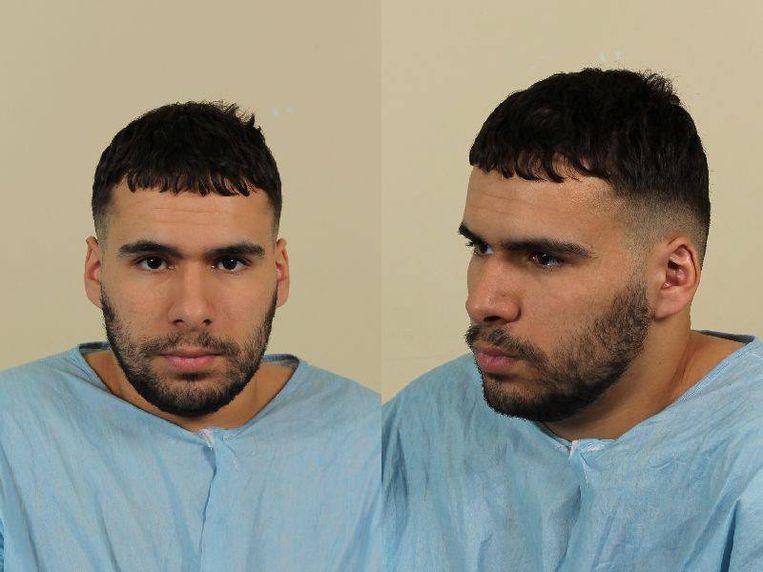 Foto's vrijgegeven door de politie van de voortvluchtige Ali Benhadi. Beeld anp