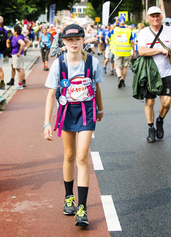 Maud Molemans was vorig jaar de jongste deelneemster.