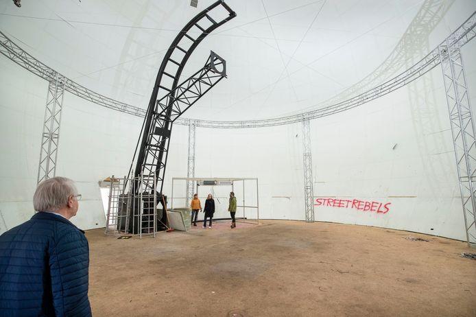De Stingerbol in Ede is een van de plekken die genoemd wordt als een mogelijk onderkomen voor de Friso Expo.