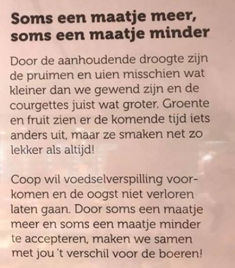 Coop Boekelo komt op voor de boeren: 'Groente en fruit smaakt net zo lekker als altijd'