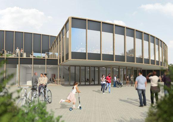 De buitenkant van de Wielerdoom die gebouwd zal worden.