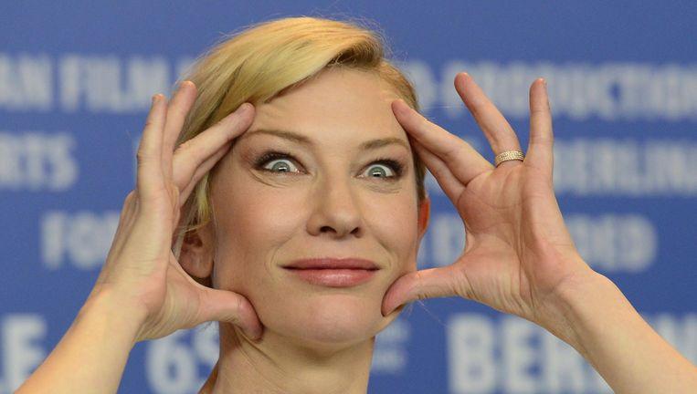 Wie op maandag alle dertien schermen vol Cate Blanchett wil zien moet goed de ogen openhouden. Beeld anp