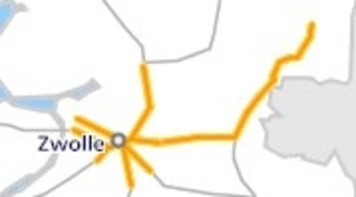 Minder treinen rond Zwolle