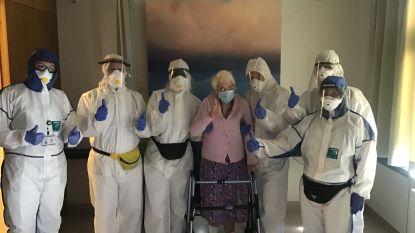"""Na WOI en WOII overwint 103-jarige Octavie het coronavirus: """"Ze is hét symbool van hoop en wilskracht"""""""