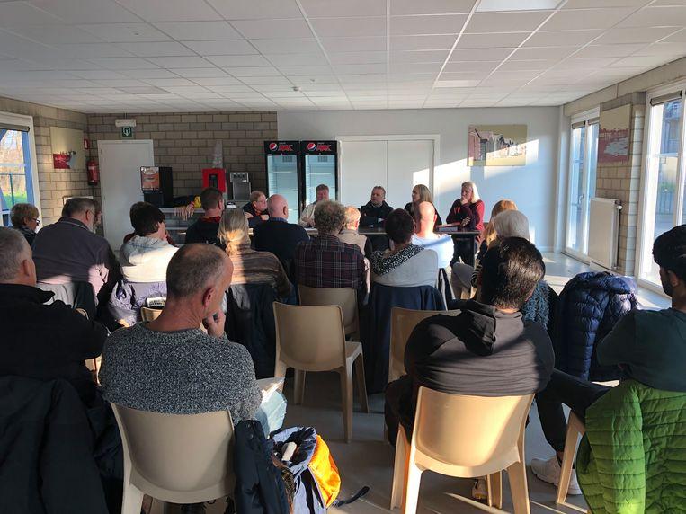 Een 20-tal vrijwilligers kwam naar het infomoment in Bredene