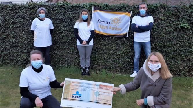 """Kempense actie 'Voetje voor voetje tegen kanker' haalt 6.000 euro op: """"Steun bracht voor ons toch wat licht in dat moeilijke jaar"""""""