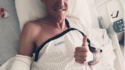 """Serge Pauwels na operatie vanop zijn ziekenbed: """"Ik zal sterker terugkeren"""""""