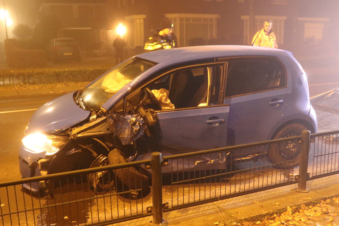 De bestuurder van de Volkswagen UP was vlak na het ongeluk in Apeldoorn gevlogen.