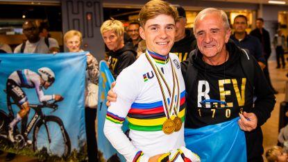 Drie jonge wielerkampioenen in Centrum Ronde van Vlaanderen