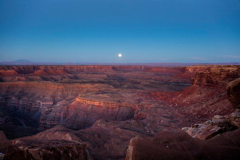 De uitgestrekte vlaktes en canyons van Utah. 'Hier begrijp je opeens hoe oud de wereld is.' Beeld epa