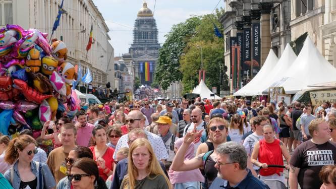 100.000 mensen overspoelen Brussel op nationale feestdag