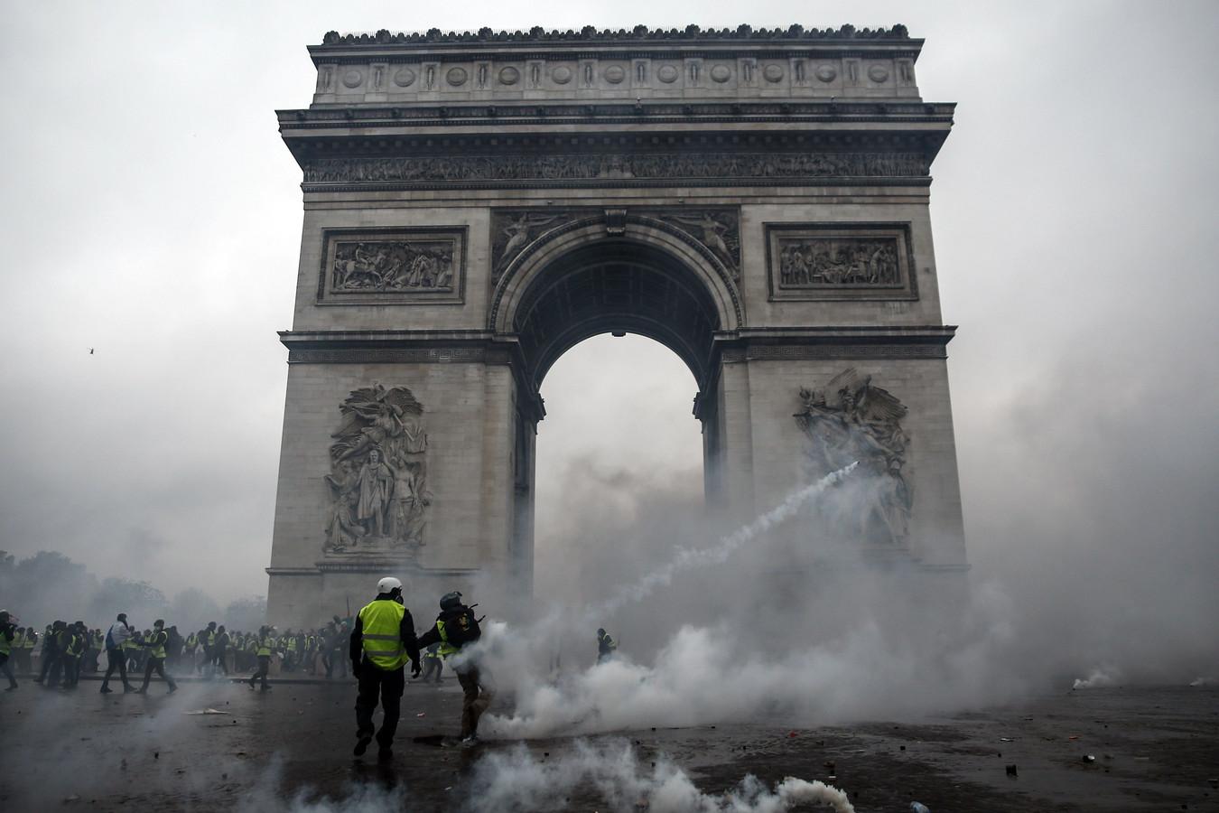 Bij eerdere protesten in de Franse hoofdstad vielen rake klappen.