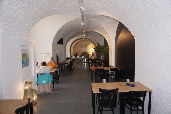 Het horecagedeelte van Fort Napoleon in Oostende krijgt een compleet nieuwe look. De gang is al helemaal klaar.