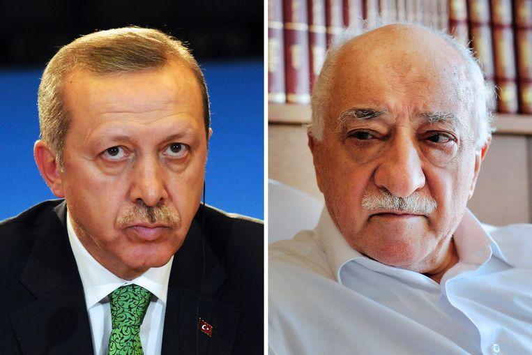 Erdogan en Gülen. Beeld afp