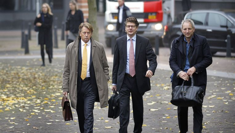 Directeur van Chipshol Peter Poot, zijn broer Cees Poot en advocaat Matthijs Kaaks Beeld anp
