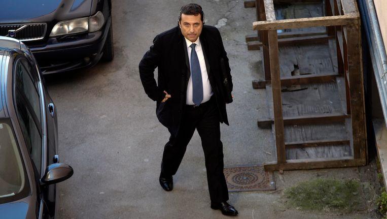 Francesco Schettino in februari in Grosseto. Beeld REUTERS
