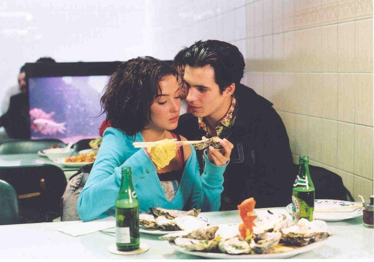 Katja Schuurman en Egbert-Jan Weeber in Oesters van Nam Kee (Pollo de Pimentel, 2002). Beeld
