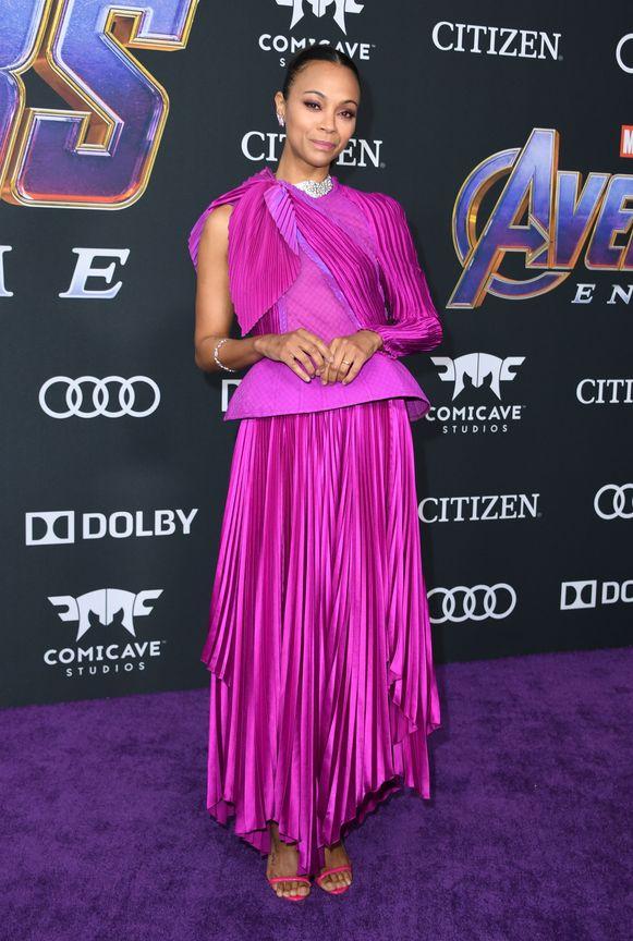 Zoe Saldana speelde Gamora in 'Avengers: Infinity War'.