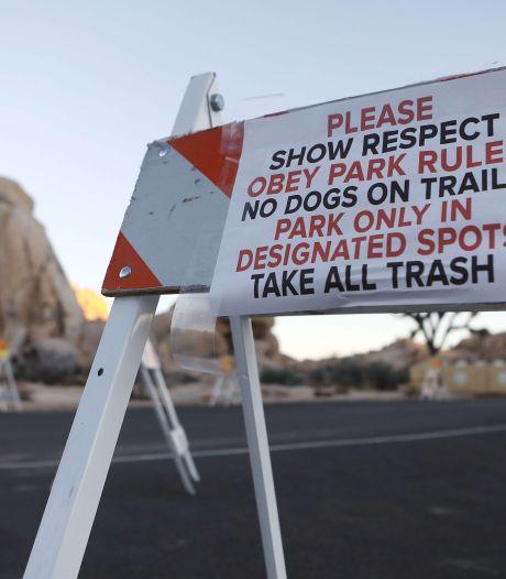 Wereldberoemd Joshua Tree National Park in Californië dicht door shutdown
