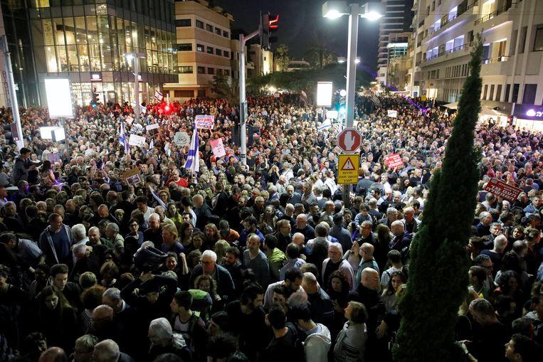 De mars van de schaamte in Tel Aviv.