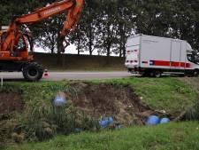 Vaten gevonden langs Nieuwe Postweg in Tholen