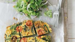 Perfect voor op deze nazomerse dag: Spaanse tortilla met spinazie en ricotta
