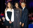 Tijdens het officiële afscheid van de Obama's in Chicago.