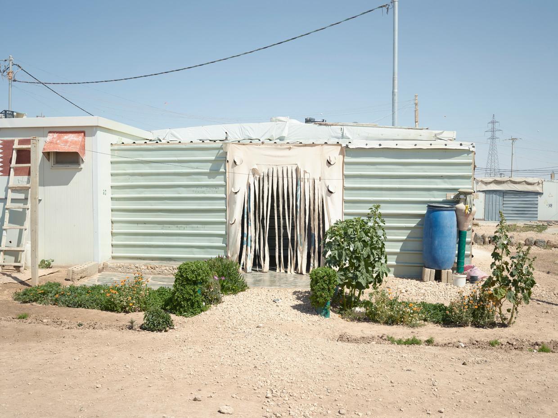 Het Jordanese vluchtelingenkamp Zaatari, april 2018. Beeld Henk Wildschut
