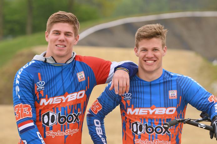 Broers Niek en Justin Kimmann.