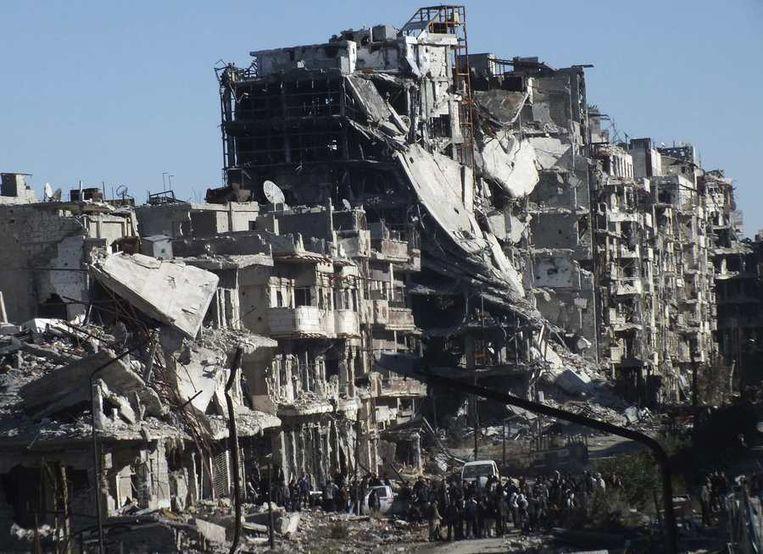 De Syrische stad Homs. Beeld reuters