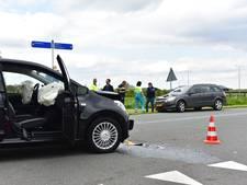 Twee auto's botsen in Werkhoven; kind en vier honden ongedeerd