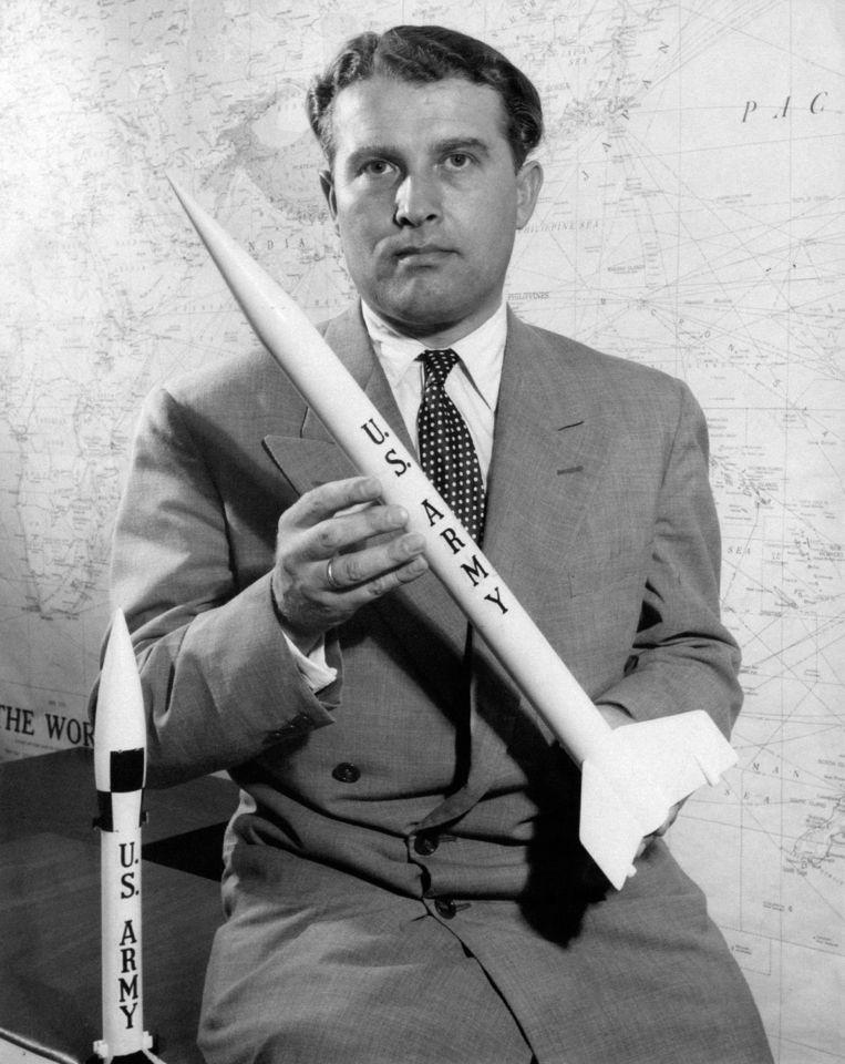 Werner von Braun, werkte voor nazi's en de VS. Beeld Getty Images