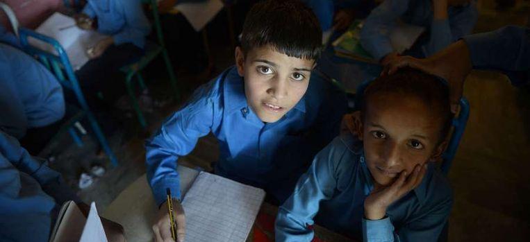 Pakistaanse schoolkinderen Beeld null