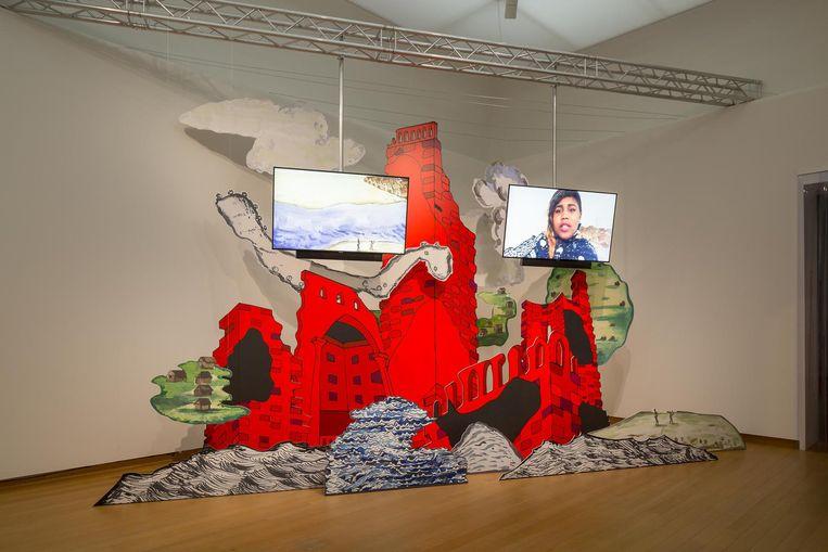 Installatie van Danielle Dean Beeld Peter Tijhuis
