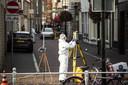 Onderzoek in de Breestraat in Delft na het incident waarbij de politie schoot.