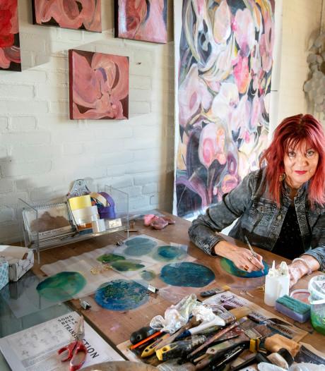 Landelijk atelierweekend in Huissen: roodbruin op het doek en in kapsel
