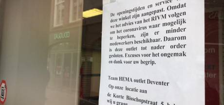 HEMA sluit outlet in Deventer wegens coronacrisis