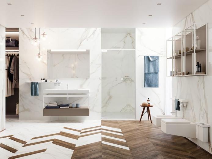 Le style minimaliste convient à ceux qui souhaitent une salle de bains fonctionnelle mais qui reste élégante.