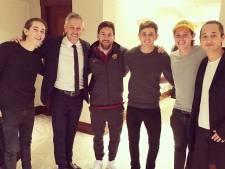 Vidic op bezoek in Amsterdam, Linekers ontmoeten Messi