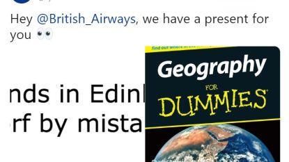 Ryanair biedt British Airways 'Geografie voor Dummies' aan nadat piloot per ongeluk in Edinburgh landt (en krijgt nadien zelf volle laag)