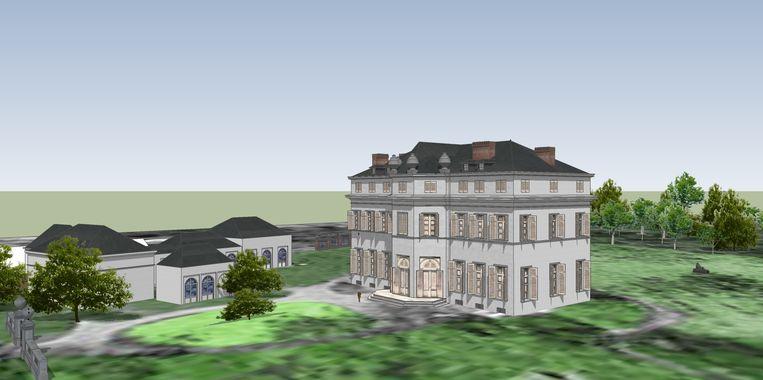 De beheerraad van het Gemeentemuseum liet deze simulatie maken van het verdwenen kasteel.