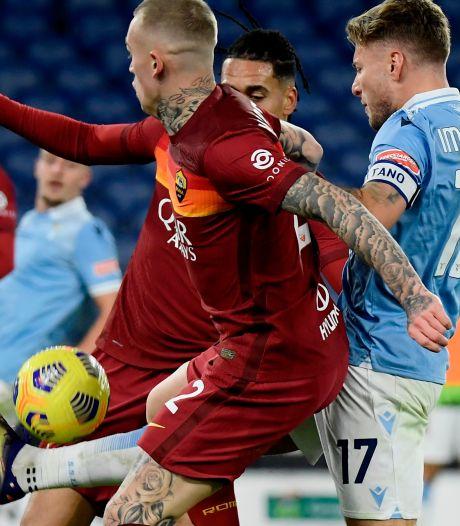 Lazio en invaller Hoedt maken gehakt van AS Roma en Karsdorp in derby