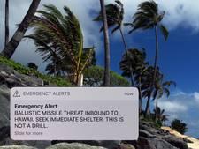 Inwoners Hawaii krijgen per ongeluk waarschuwing voor raketaanval